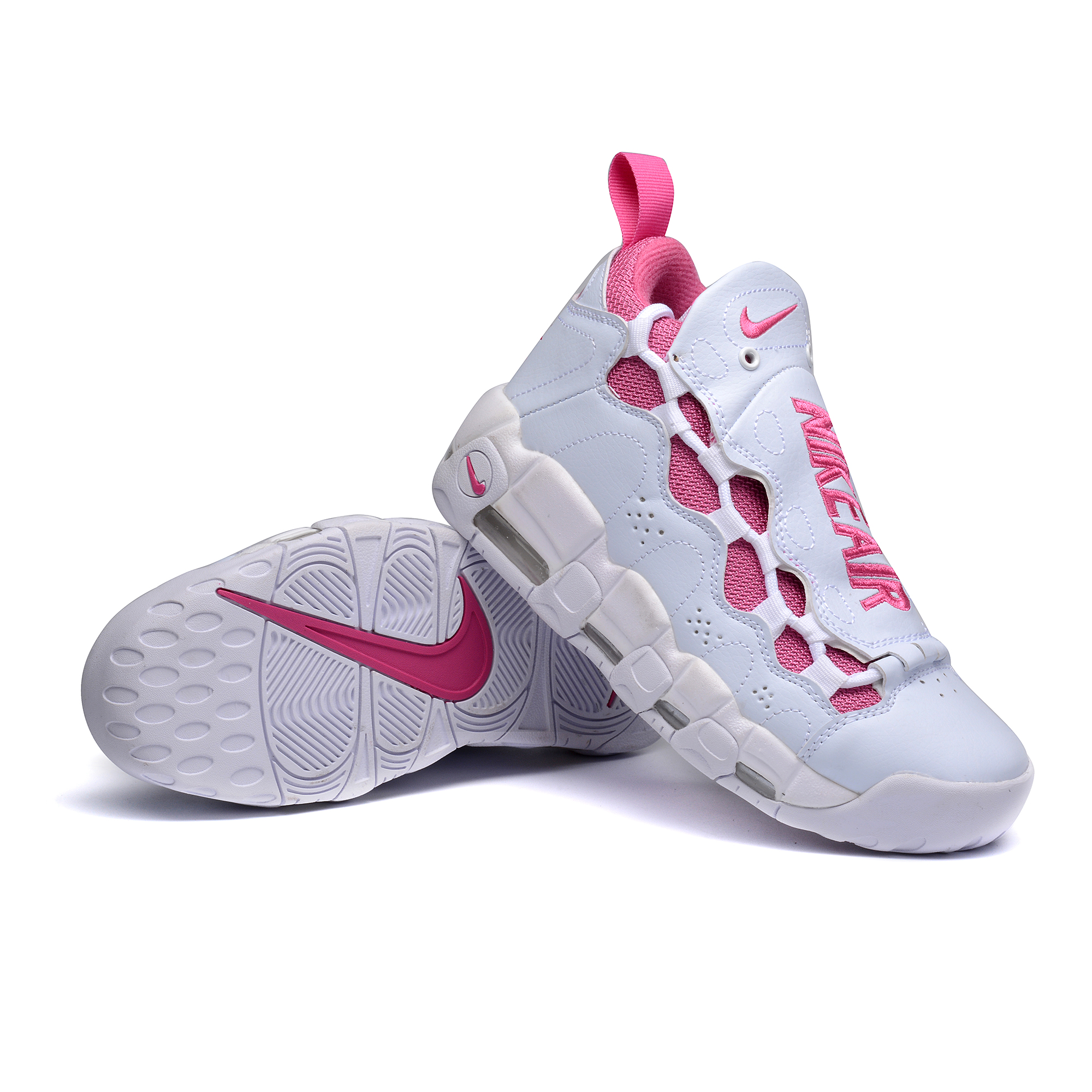 Nike Air More Money QS Breast Cancer White Pink Shoes