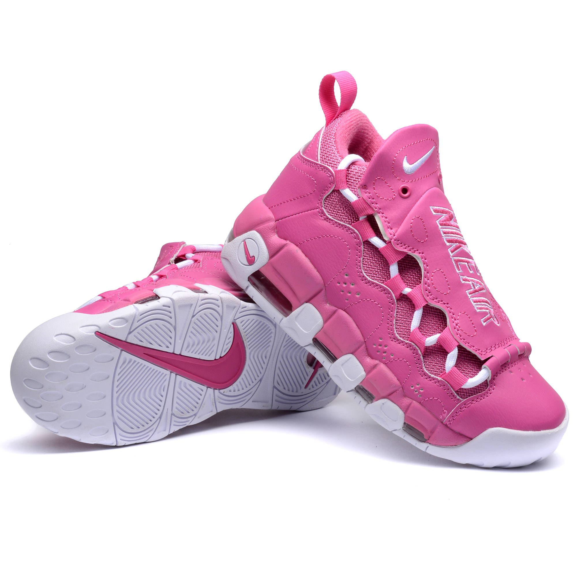 Nike Air More Money QS Pink White Shoes
