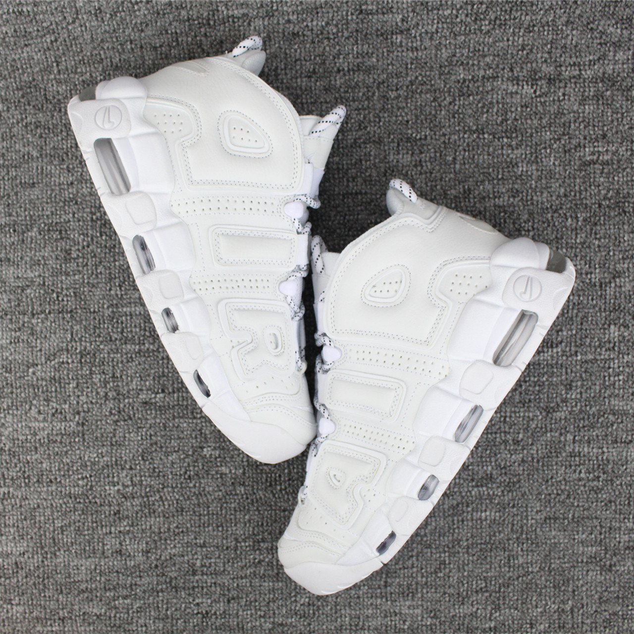 Nike Air More Uptempo 96 All White Shoes