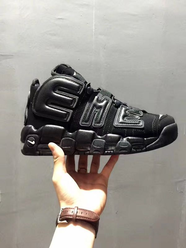 Nike Air More Uptempo All Black Shoes