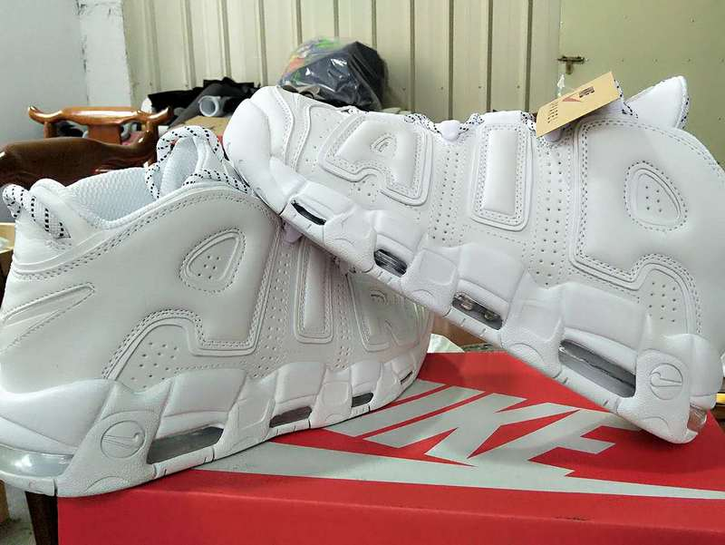 Nike Air More Uptempo All White Shoes