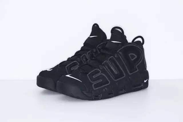 Nike Air More Uptempo Black Shoes