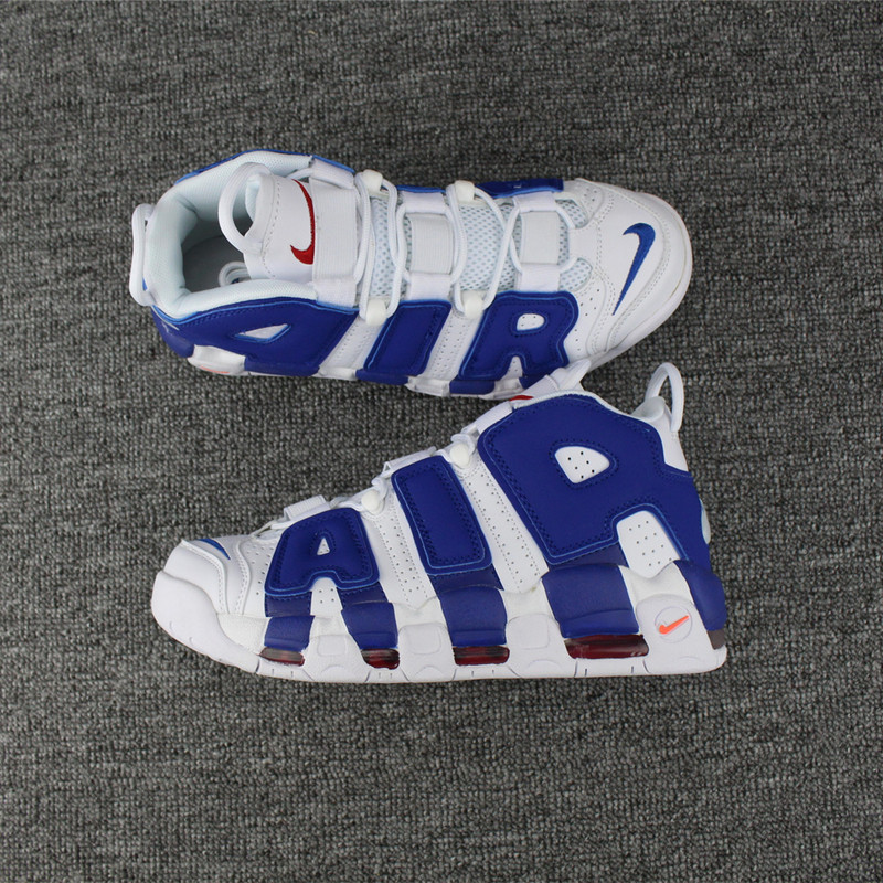 Nike Air More Uptempo Knicks White Blue Shoes