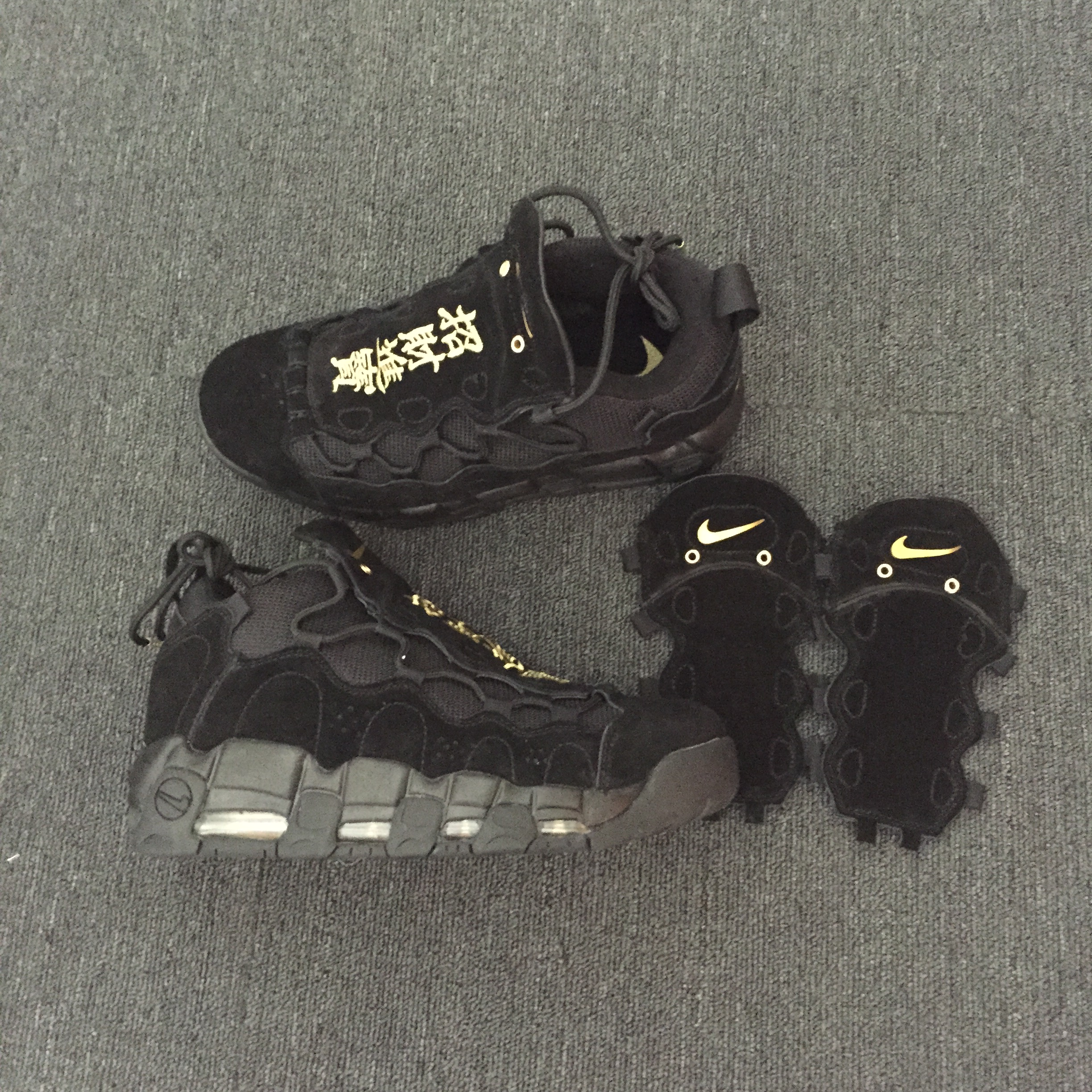 Nike Air More Uptempo Kung Hei Fat Choi Black Shoes