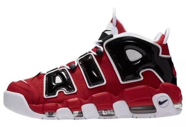 Nike Air More Uptempo Red Black White Shoes