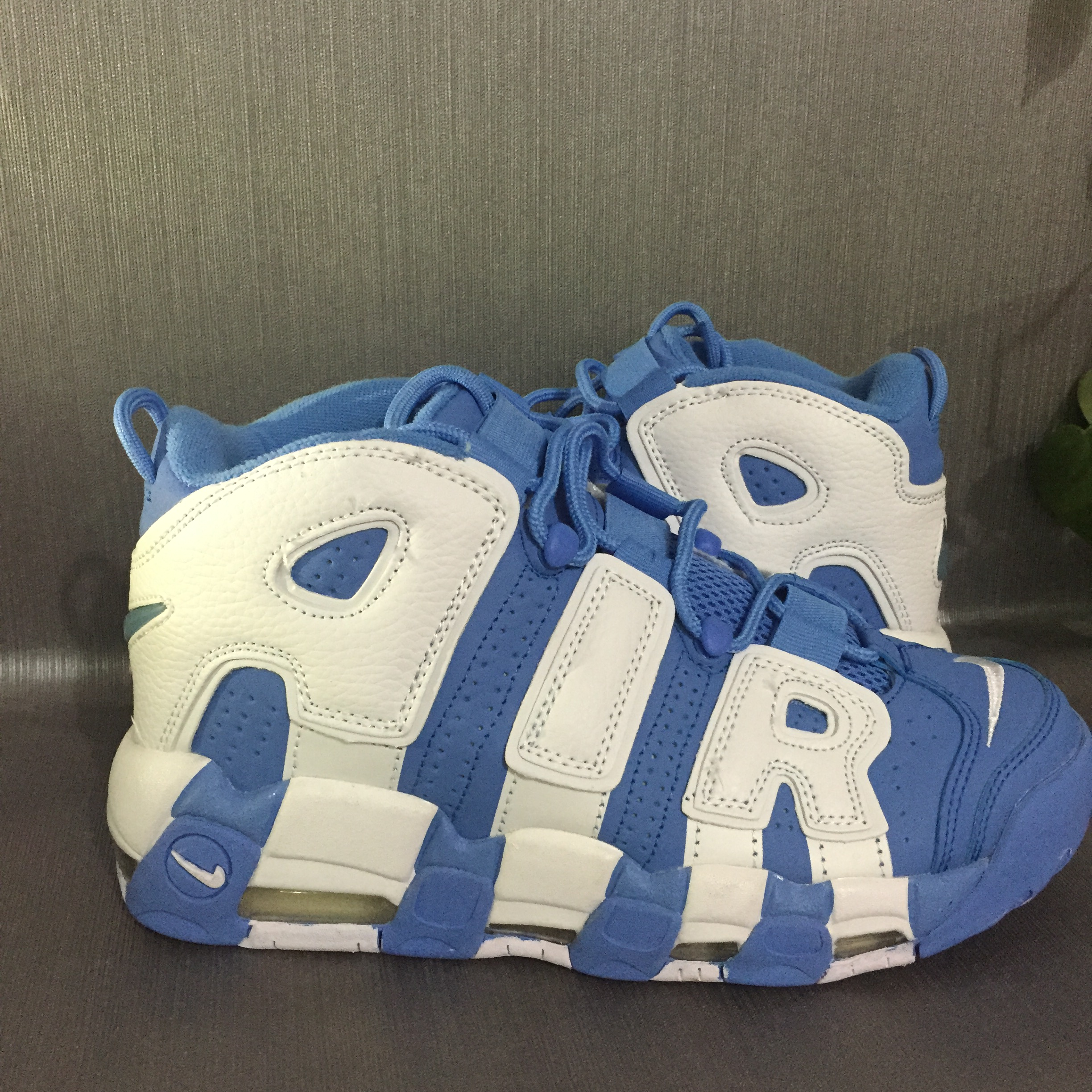 Nike Air More Uptempo White Blue Shoes