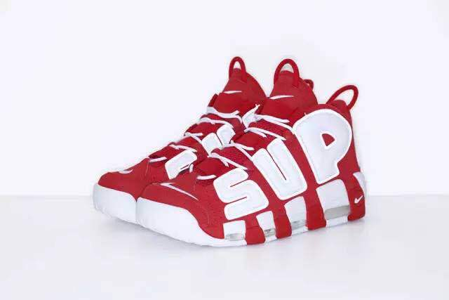 Nike Air More Uptempo White Red Shoes