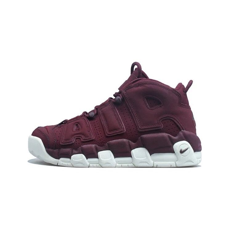 Nike Air More Uptempo Wine Red White Shoes