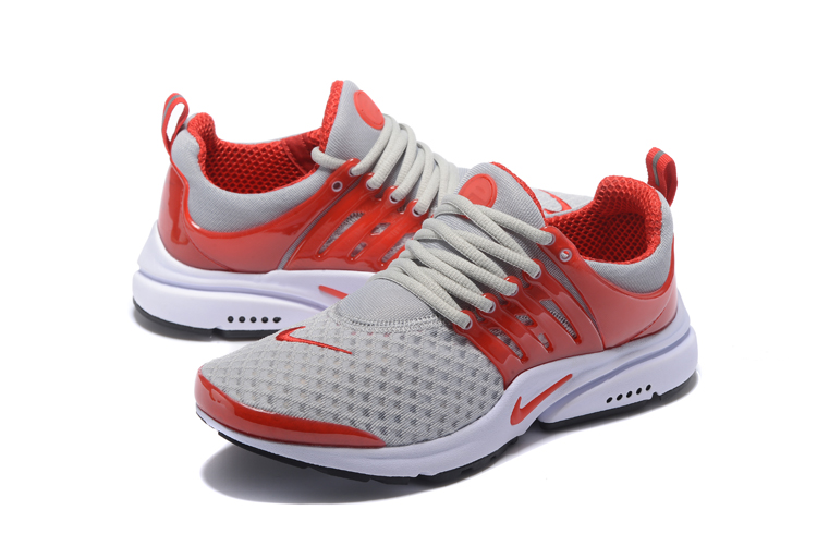 Nike Air Presto Essential Grey Red Running Shoes
