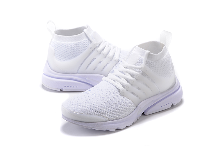 Nike Air Presto Flyknit Ultra All White Running Shoes For Women