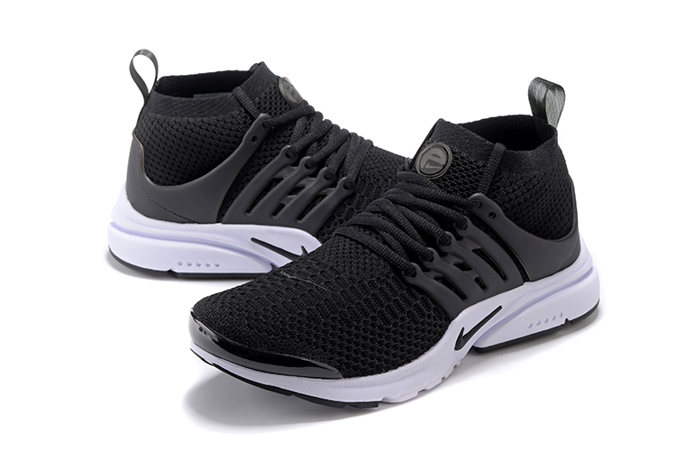 Nike Air Presto Flyknit Ultra Black White Running Shoes For Women