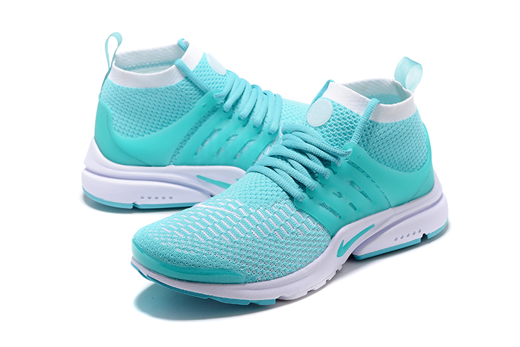 Nike Air Presto Flyknit Ultra Light Green White Running Shoes For Women