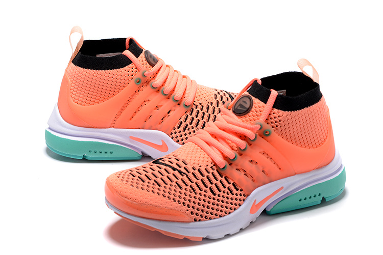 Nike Air Presto Flyknit Ultra Orange Green Running Shoes For Women
