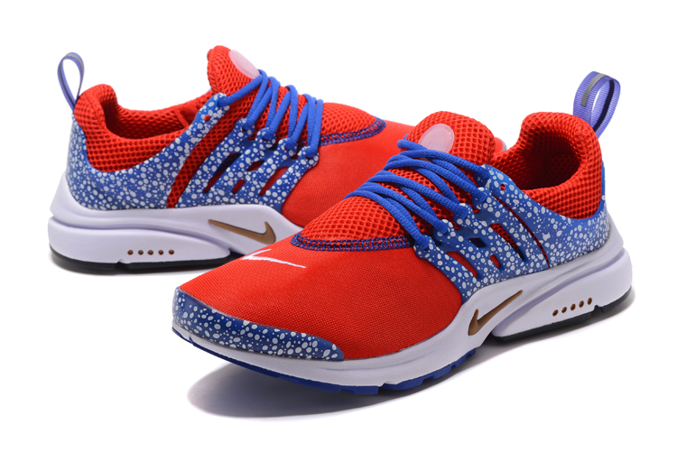 Nike Air Presto Gold Safari Red Sea Blue Running Shoes
