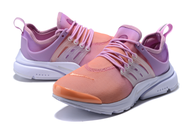 Nike Air Presto Orange Purple Running Shoes For Women