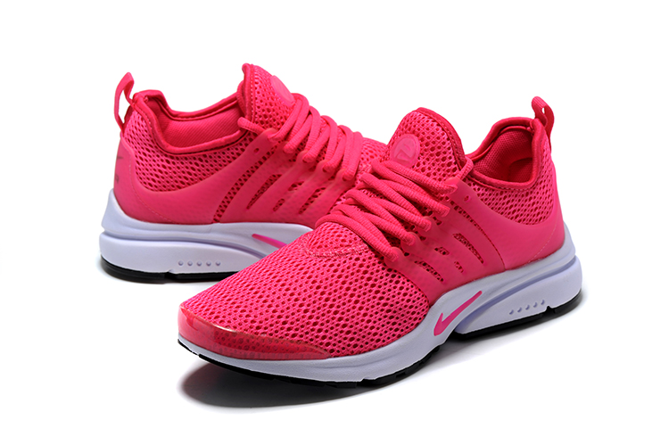 Nike Air Presto Red White Running Shoes For Women