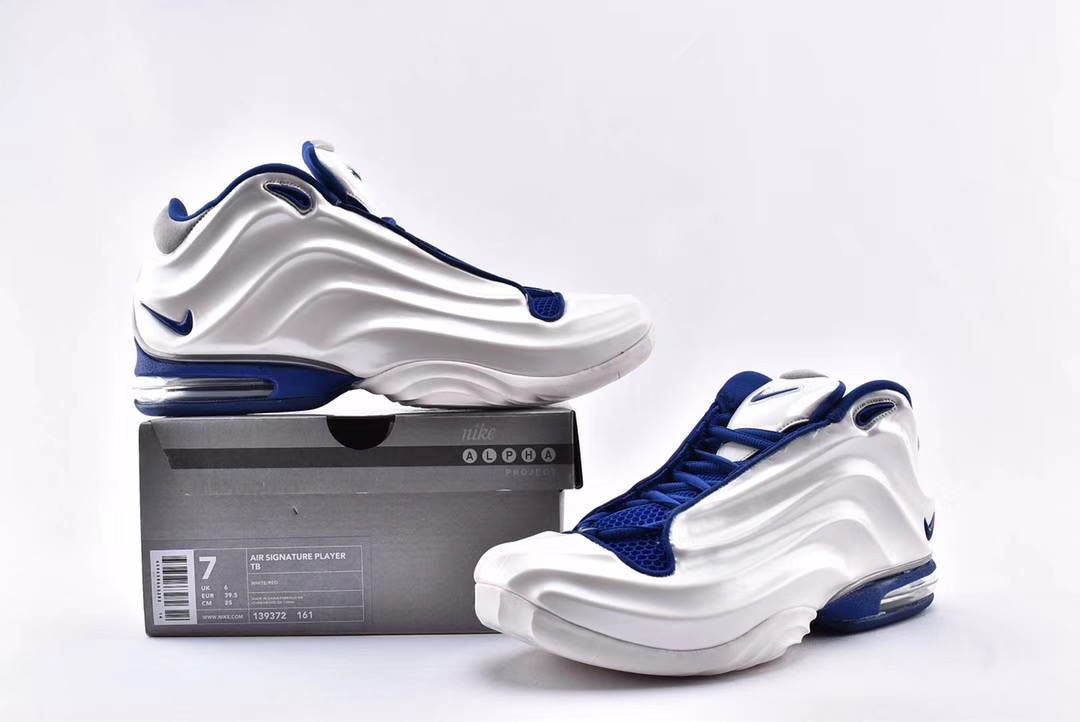 Nike Air Signature Player TB White Blue Shoes