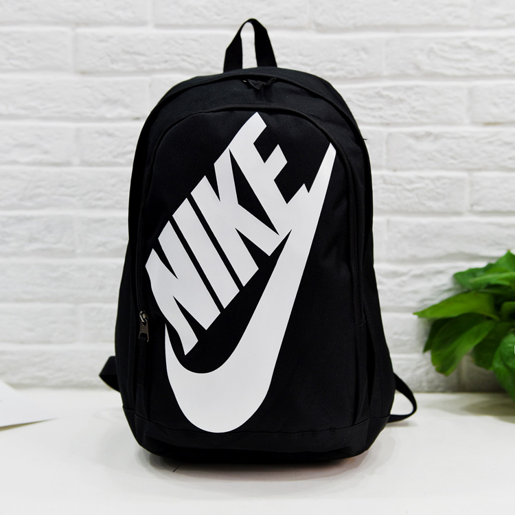 Nike Backpack with Big NIKE Logo Black White