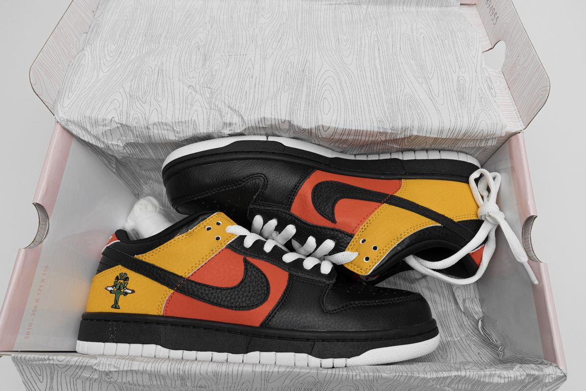 Nike Dunk SB Low Raygun Black Yellow Red White Shoes