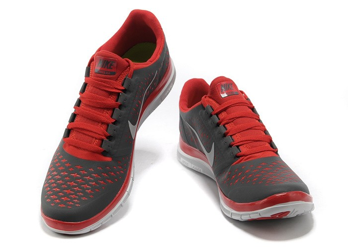 Nike Free 3.0 V4 Mens Shoes Grey Red White