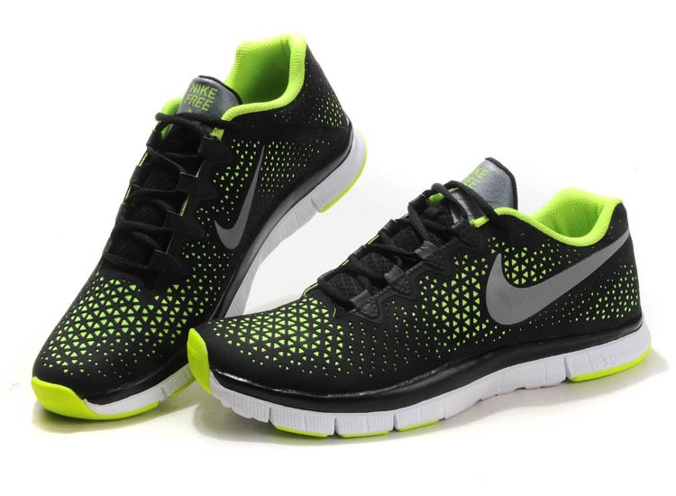 Nike Free 3.0 V4 Mens Shoes black fluorescent green