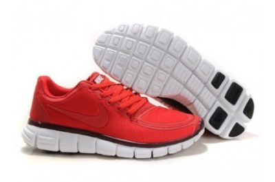 Nike Free 5.0 V4 Womens Running Shoes Red Black