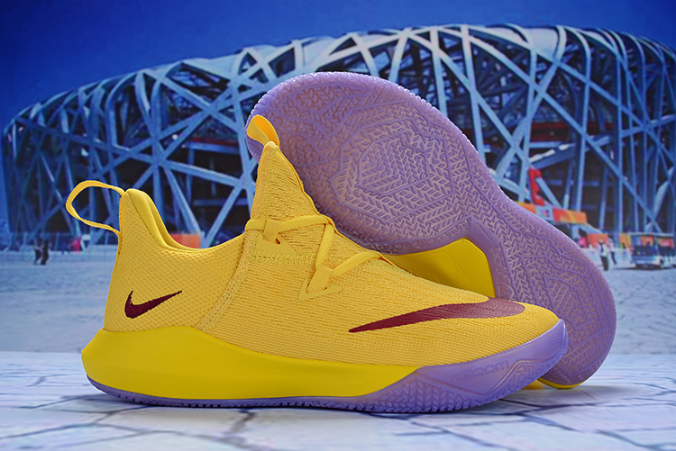 Nike Hyperdunk 2017 Low TB Yellow Wine Red Shoes
