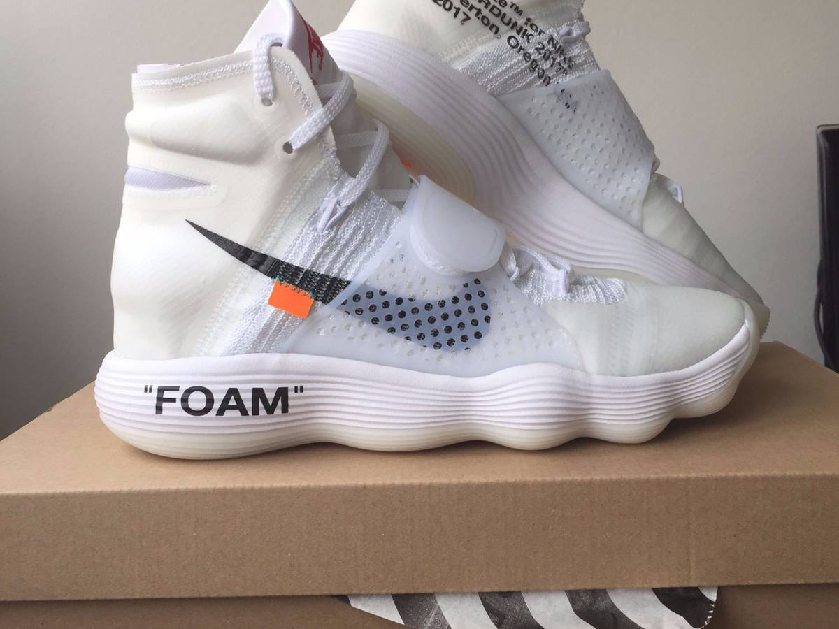 867e4c90e0ea Nike Hyperdunk x 2017 Flyknit OFF-WHITE White Black Shoes ...