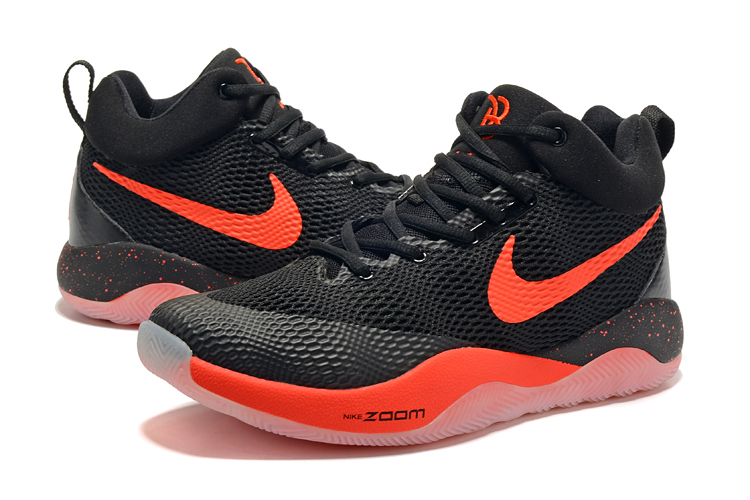 Nike Hyperrev 2017 Black Reddish Orange Shoes