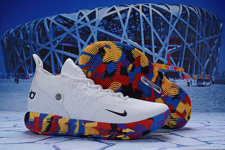 Nike KD 11 White Colorful Blue Shoes