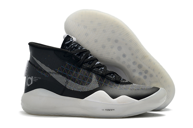 Nike KD 12 Black Grey White Shoes