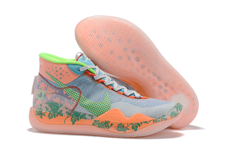 Nike KD 12 Blue Orange Green Shoes