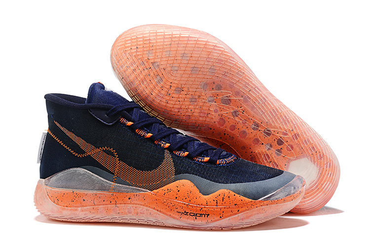 Nike KD 12 Deep Blue Orange Shoes