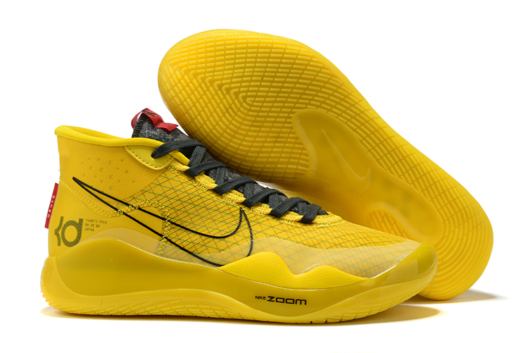 Nike KD 12 Yellow Black Shoes