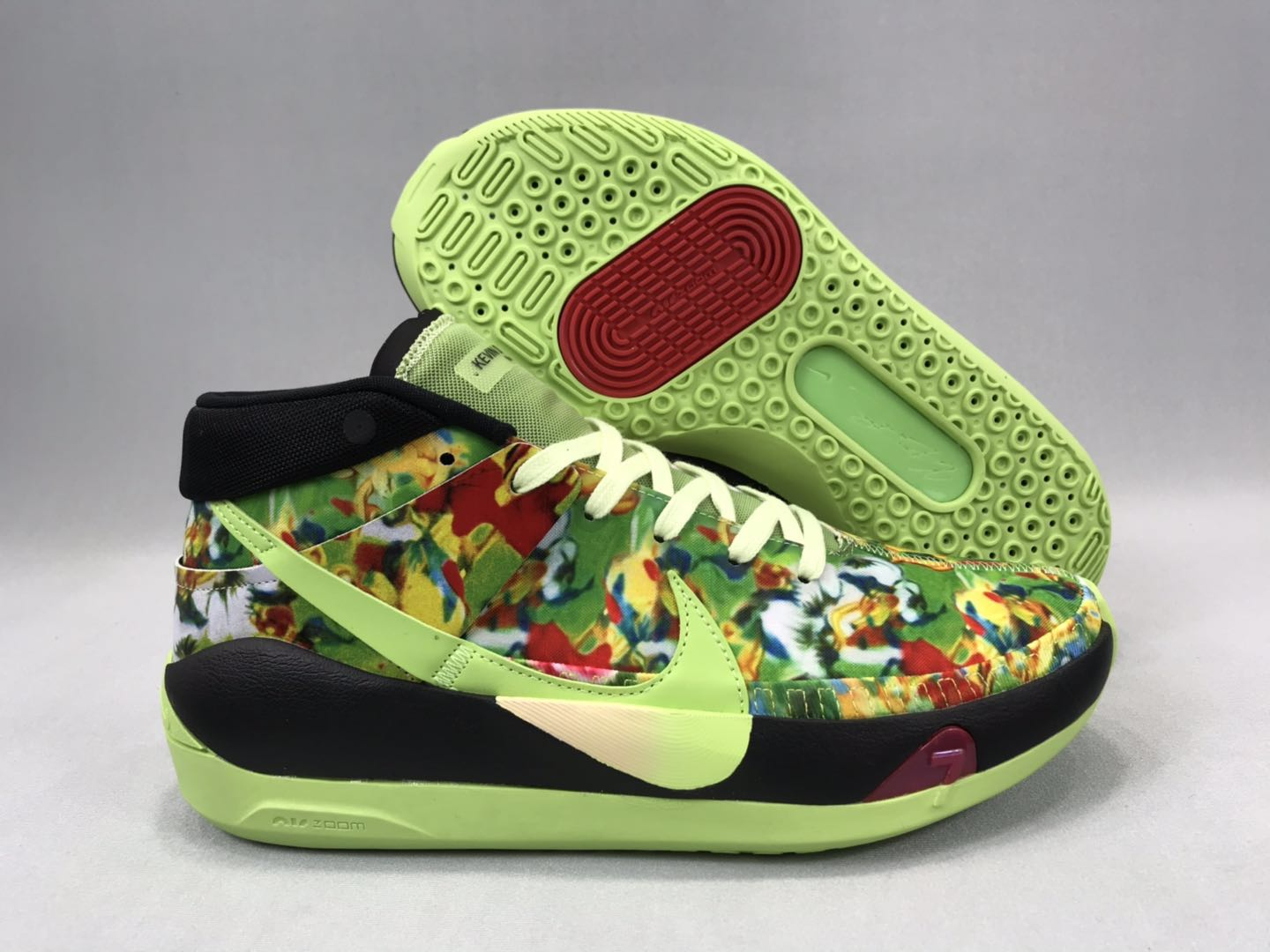Nike KD 13 Army Green Black Red Shoes