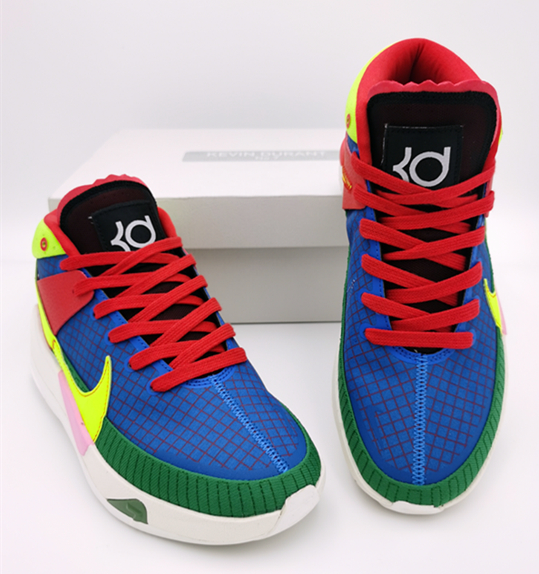Nike KD 13 Blue Red Green Yellow Shoes