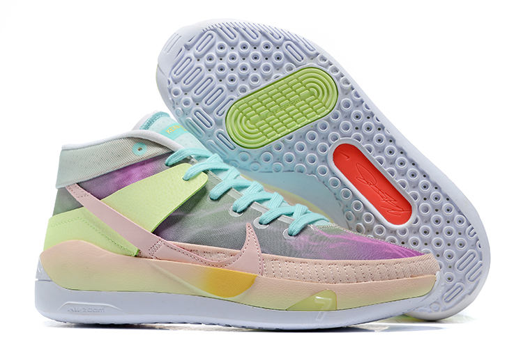 Nike KD 13 Colorful Pink Green Jade Shoes