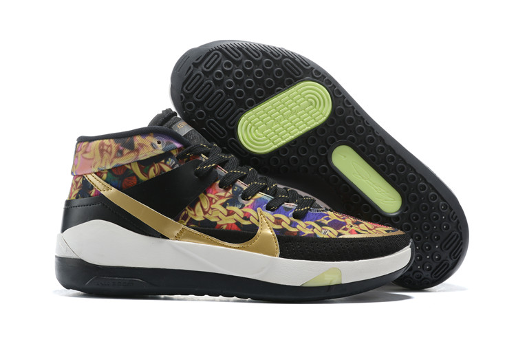 Nike KD 13 Gold Colorful Black White Shoes