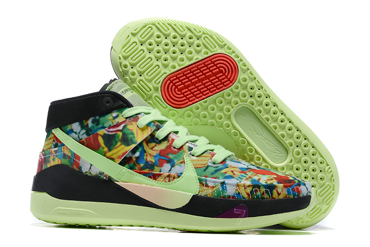 Nike KD 13 Green Colorful Black Shoes