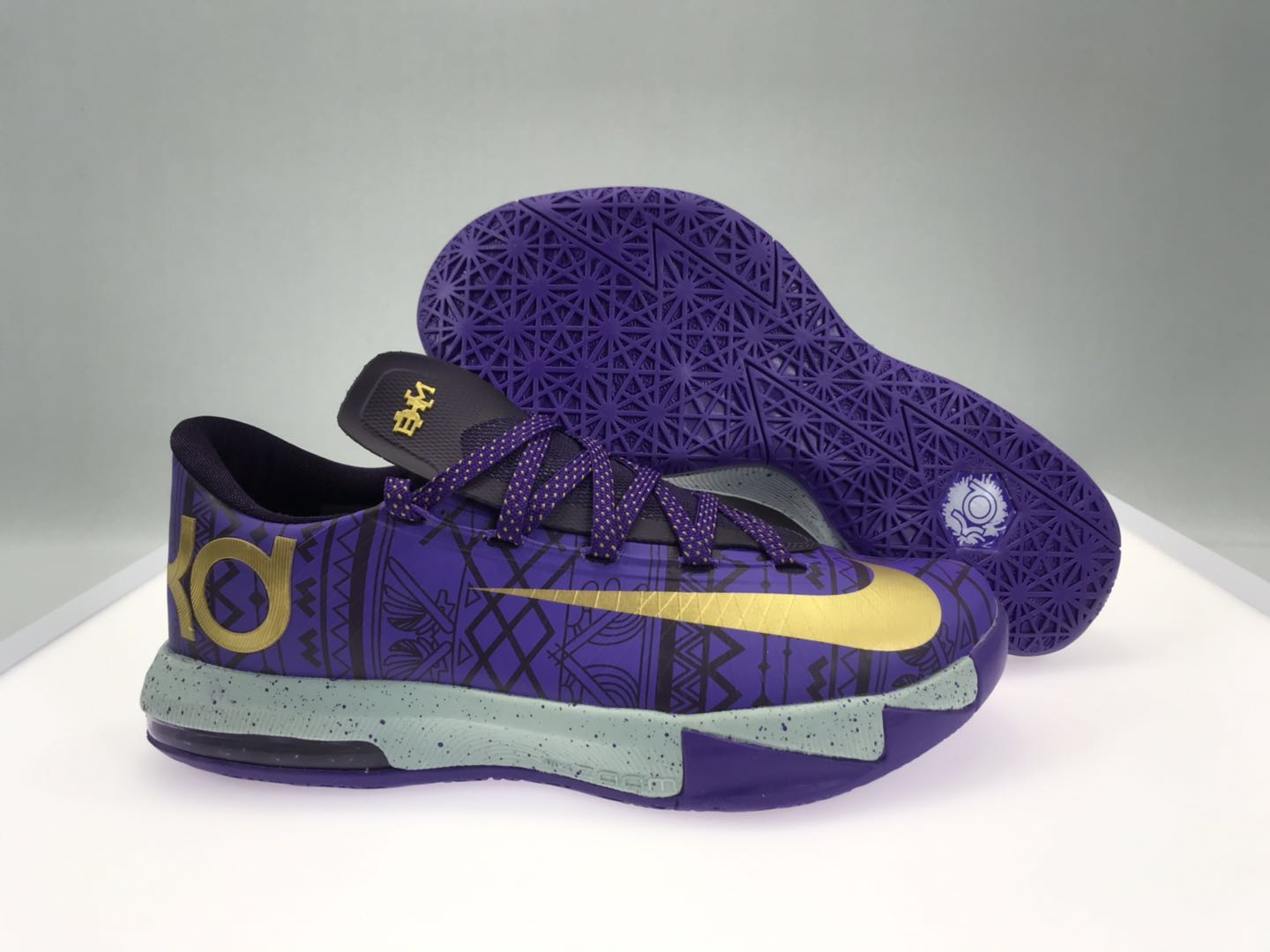 Nike KD 6 BHM Purple Gold Shoes