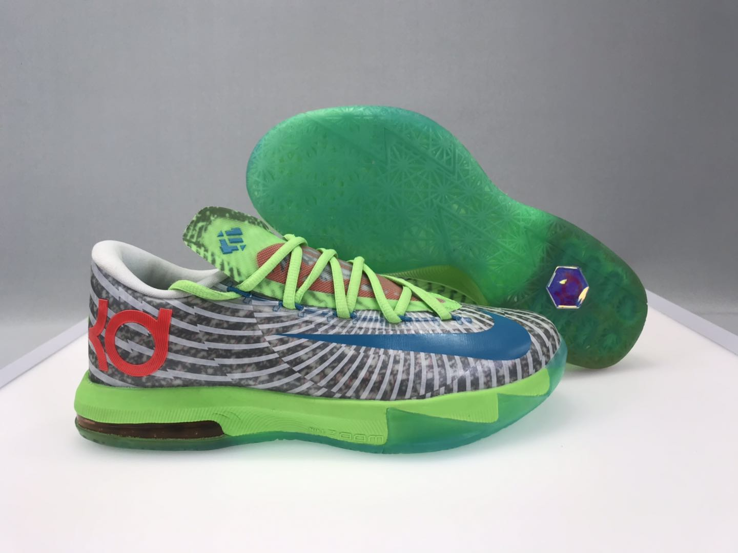 Nike KD 6 Sportive Green Black White Shoes