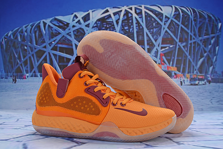 Nike KD Trey 6 Yellow Wine Red Shoes