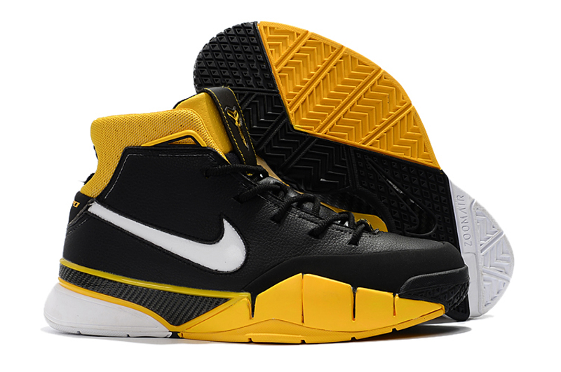 premium selection feb34 47b8e Nike Kobe 1 Protro ZK1 Black Yellow White Shoes