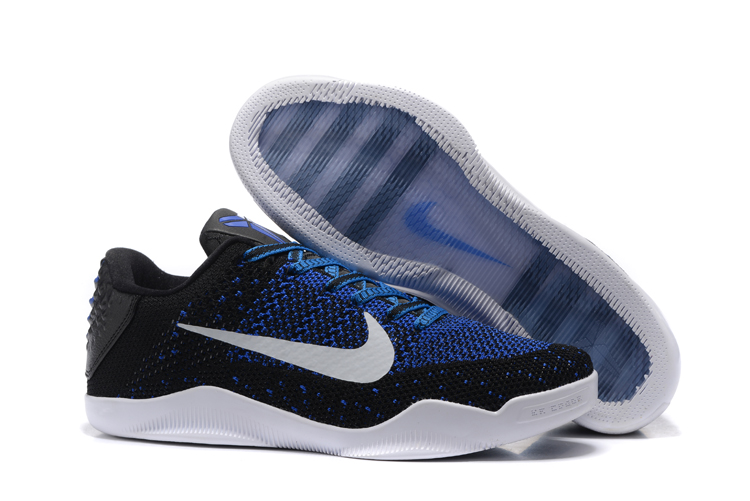 Nike Kobe 11 Flyknit Black Blue White Shoes