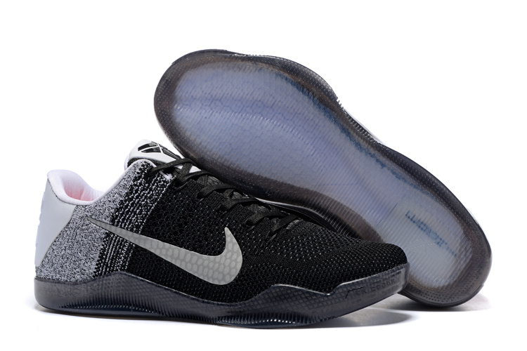 Nike Kobe 11 Flyknit Black Grey White Shoes