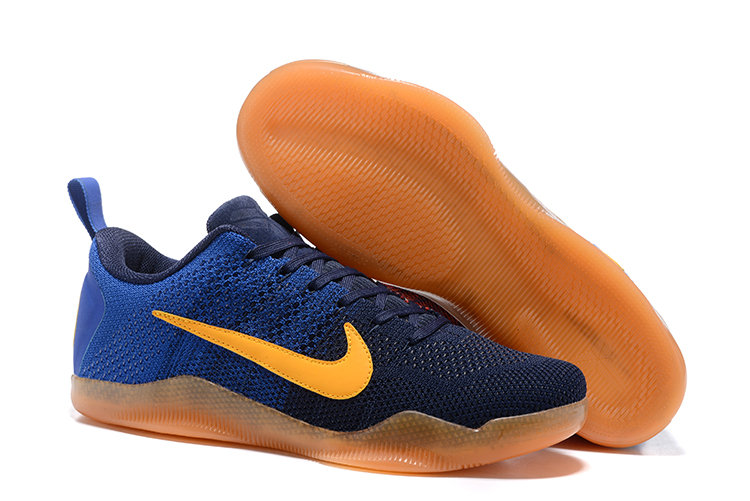 Nike Kobe 11 Flyknit Blue Black Orange Sole Shoes