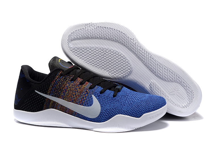 Nike Kobe 11 Flyknit Blue Black Silver Shoes