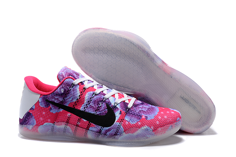 Nike Kobe 11 Flyknit Flor Red Purple Shoes