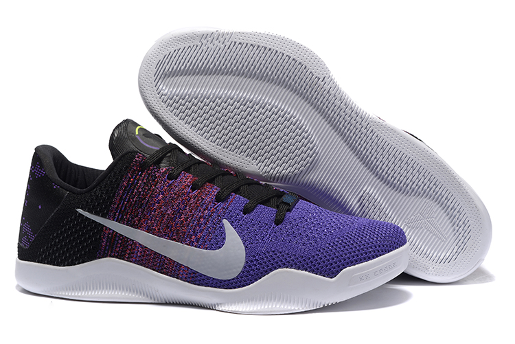 Nike Kobe 11 Flyknit Purple Black Silver Shoes