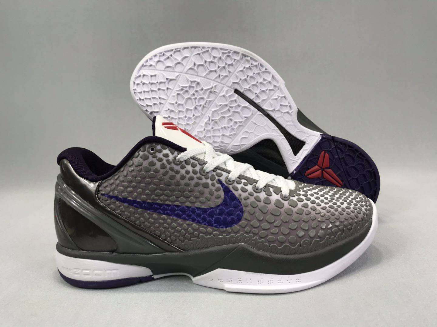 Nike Kobe 6 SnakeSkin Black Blue White Shoes